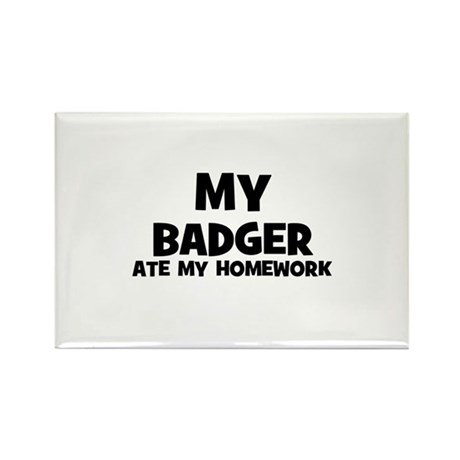 My Badger Ate My Homework Rectangle Magnet (10 pac