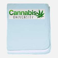 Cannabis Marijuana University baby blanket