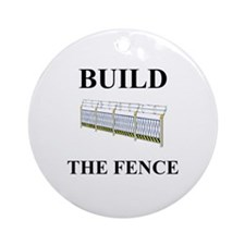 Build the Border Fence Ornament (Round)