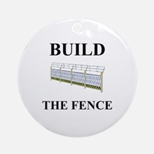 Build the Border Fence Ornament (Round)