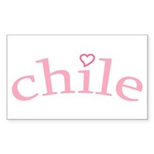 """""""Chile with Heart"""" Rectangle Decal"""