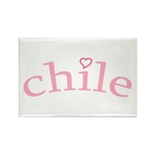 """""""Chile with Heart"""" Rectangle Magnet (10 pack)"""