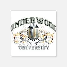 Underwood last name University Sticker