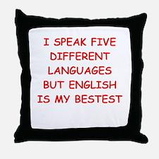 ENGLISH Throw Pillow