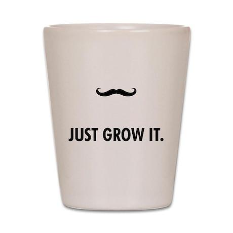 Grow A Mustache Shot Glass