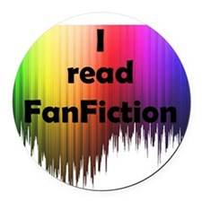 I read FanFiction Round Car Magnet