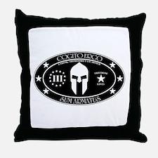 Armed Thinker - III B&W Throw Pillow