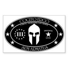 Armed Thinker - III B&W Decal