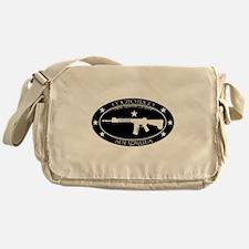 Armed Thinker - Rifle B&W Messenger Bag