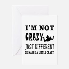 I'm not Crazy just different Base Jumping Greeting