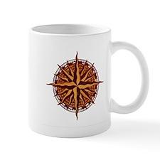 Compass Rose Wood Mug