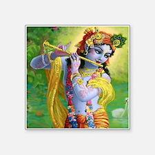 "I Love you Krishna. Square Sticker 3"" x 3"""