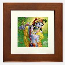 I Love you Krishna. Framed Tile