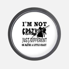 I'm not Crazy just different Bobsled Wall Clock