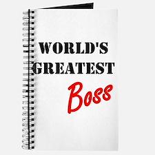 Worlds Greatest Boss Journal