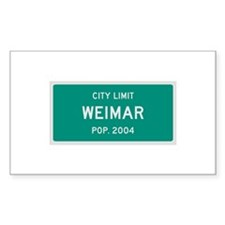 Weimar, Texas City Limits Decal
