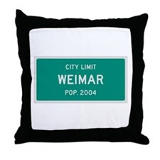 Weimar, Texas City Limits Throw Pillow
