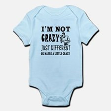 I'm not Crazy just different Boxing Infant Bodysui