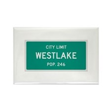 Westlake, Texas City Limits Rectangle Magnet