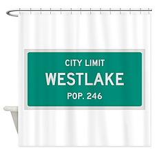 Westlake, Texas City Limits Shower Curtain