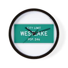 Westlake, Texas City Limits Wall Clock