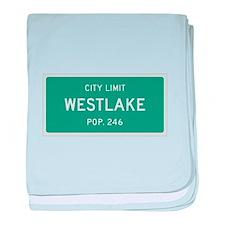 Westlake, Texas City Limits baby blanket