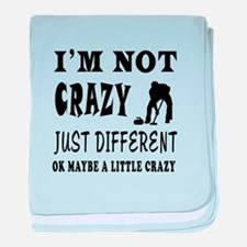 I'm not Crazy just different Curling baby blanket