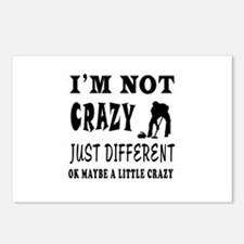 I'm not Crazy just different Curling Postcards (Pa