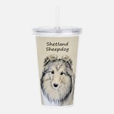 Shetland Sheepdog Acrylic Double-wall Tumbler