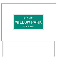 Willow Park, Texas City Limits Yard Sign