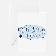 Cute Knitting queen Greeting Card