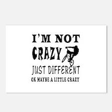 I'm not Crazy just different Mountain Biking Postc