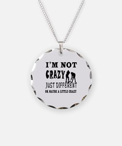 I'm not Crazy just different Ice hockey Necklace