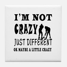 I'm not Crazy just different Ice hockey Tile Coast