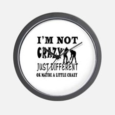 I'm not Crazy just different Ice hockey Wall Clock