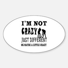 I'm not Crazy just different Ice hockey Decal