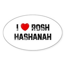 I * Rosh Hashanah Oval Decal