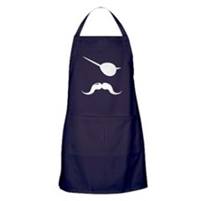 Pirate Mustache Apron (dark)