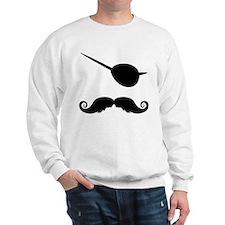 Pirate Mustache Sweatshirt