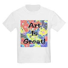 Art Is Great! Kids T-Shirt