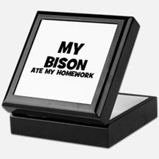 My Bison Ate My Homework Keepsake Box