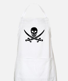 black skull and crossbones Apron