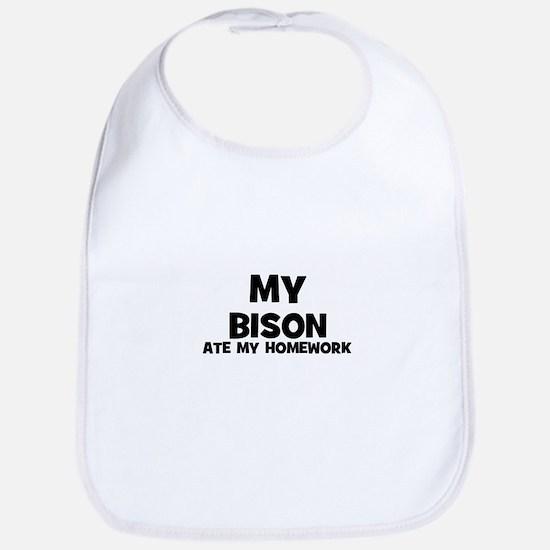 My Bison Ate My Homework Bib