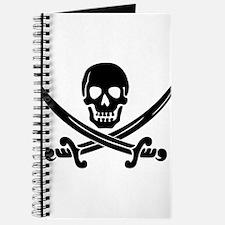 black skull and crossbones Journal