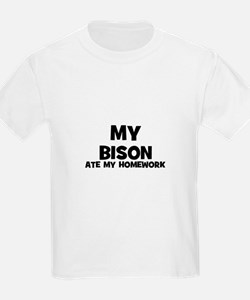 My Bison Ate My Homework Kids T-Shirt