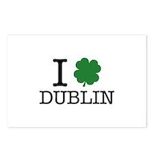 I Shamrock Dublin Postcards (Package of 8)