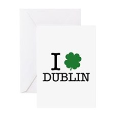 I Shamrock Dublin Greeting Card