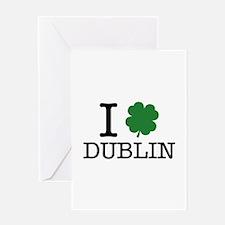 I Shamrock Dublin Greeting Card