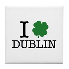 I Shamrock Dublin Tile Coaster