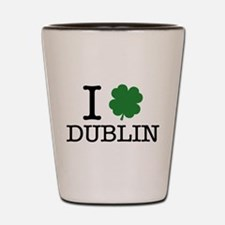 I Shamrock Dublin Shot Glass